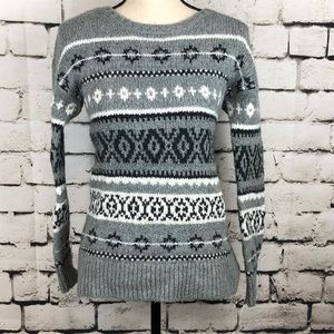 AEO Fair Isle Gray Sweater